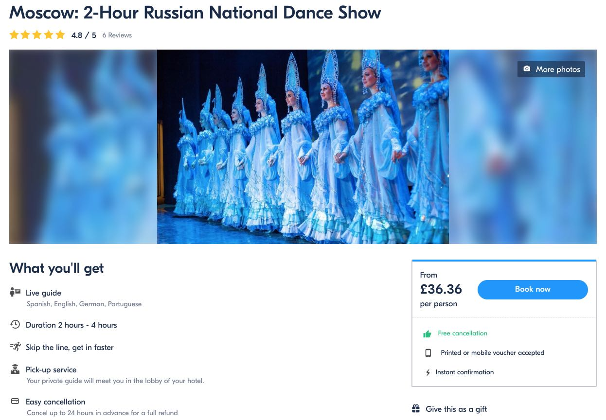 Moskva 2-timmars ryska nationaldanshow Kostroma
