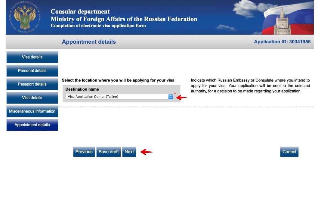 Fyll i det ryska viseringsansökningsformuläret i Sverige 9
